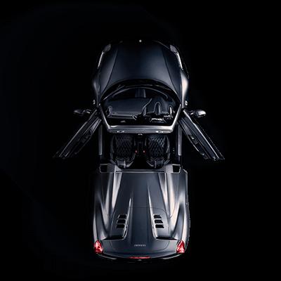 Ferrari from above