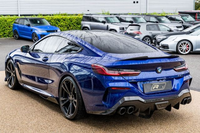 """2020 (20) BMW M850i V8 First Edition Steptronic xDrive with 4,136 miles on the clock is now in stock for £87,990.  Features include; M Carbon Roof, Visibility Pack, Black Merino Leather, 20"""" Multi-Spoke Alloys, Sun Protection Glass, Individual Shadow Line, Technology Pack, Individual Paintwork.  Full advert on our website, link in bio! ⠀⠀⠀ ⠀⠀⠀ ——— #bmw #bmw8series #m850i #cars #car #carsofinstagram #auto #supercars #carlifestyle #instacar #luxury #photography #automotive #like #racing #turbo #supercar #follow #instacars #carswithoutlimits #luxurycars #redlinesocial"""